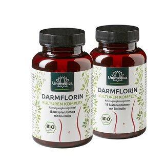 : Lot de 2: Ensemble d'épargne Darmflorin complexe de cultures - 18 souches bactériennes avec inuline BIO-360 gélules -  Unimedica