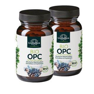 2er-Sparset: Bio OPC - mit 30 % reinem OPC Gehalt - hochdosiert - 120 Kapseln - von Unimedica/