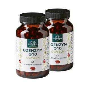 2er-Sparset: Coenzym Q10 - 200 mg - 240 Softgelkapseln - von Unimedica/